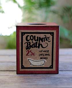 Country Bath Tissue Box Cover