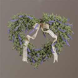 Lavender Heart Shaped Wreath