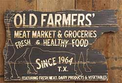 Old Farmer's Meat Market Wall Decor