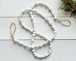 Distressed White Farmhouse Beads