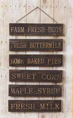 Antiqued Farmer's Market Hanging Sign
