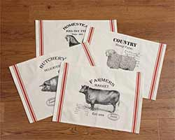 Vintage Farm Animal Placemats (Set of 4)