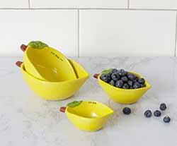Lemon Measuring Cups Set