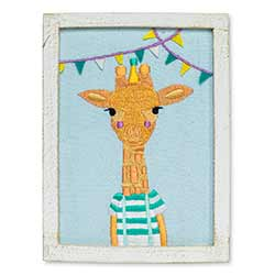 Giraffe with Pennants Wall Art