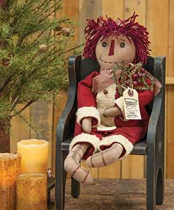 Christmas Annie Primitive Doll