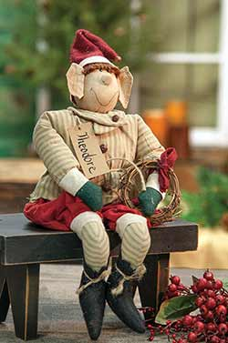 Primitive Christmas Elf Doll
