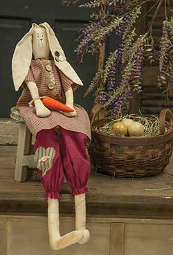 Primitive Bunny Girl with Carrot