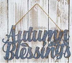 Autumn Blessings Tin Sign