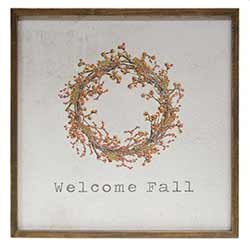 Welcome Fall Framed Watercolor Wall Art
