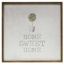 Home Sweet Home Framed Watercolor Wall Art