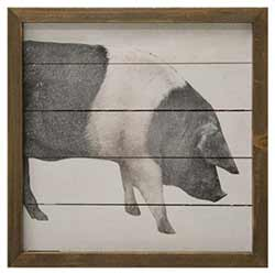 Farmhouse Pig Framed Sign