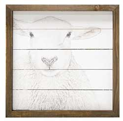 Farmhouse Sheep Framed Sign