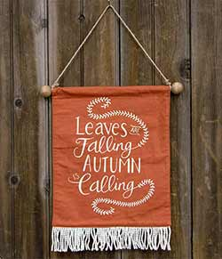 The Hearthside Collection Autumn Is Calling Fabric Wall Hanging