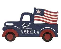 Patriotic Truck Shelf Sitter