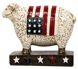 Patriotic Sheep Shelf Sitter