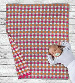 Dots and Stripes Throw Blanket