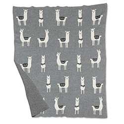Llama Baby Throw Blanket