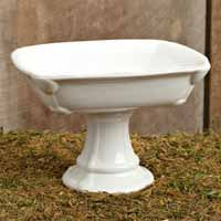 Bird & Crown Dinnerware - Square Pedestal Bowl