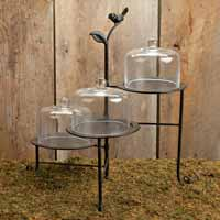 Glass Domed Three Tiered Server