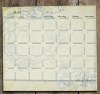 Cream/Blue Perpetual Calendar Set (includes magnets)