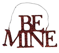 Be Mine Red Glitter Ornament