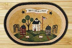 Sweet Land of Liberty Braided Jute Rug