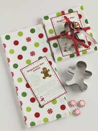 Gingerbread Man Cookie Gift Set