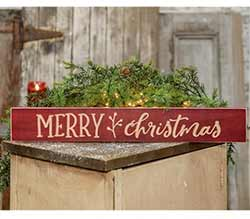 Merry Christmas Engraved 24 inch Sign