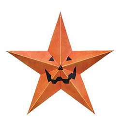 Halloween Barn Star - 12 inch