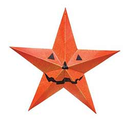 Halloween Barn Star - 24 inch