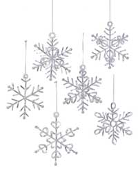 Silvery Snowflake Ornament