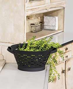 Black Olive Basket Colander - 13.5 inch