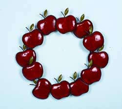 Metal Apple Wreath