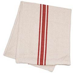 Cream with Red Stripe 30 inch Table Runner