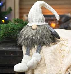Cream Knit Santa Gnome