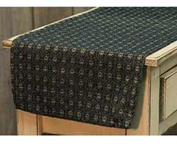 Black Packsville Rose 32 inch Table Runner