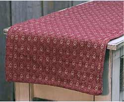 Red Packsville Rose 56 inch Table Runner