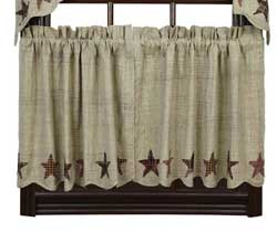 VHC Brands Abilene Star Cafe Curtains - 24 inch Tiers