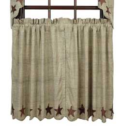 VHC Brands Abilene Star Cafe Curtains - 36 inch Tiers
