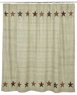 VHC Brands (Victorian Heart) Abilene Star Shower Curtain