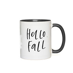 Happy Fall Mug with Black