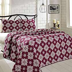 Adelaide Boysenberry Quilt Set (Multiple size options)