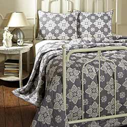 Adelaide Grey Quilt Set (Multiple size options)
