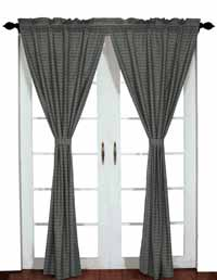 Victorian Heart America Curtain Panel - Gunmetal
