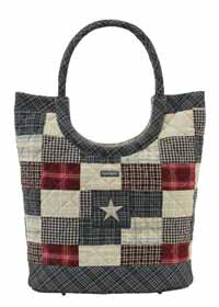 America Ring Snap Quilted Handbag