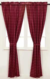 Victorian Heart America Curtain Panel - Red