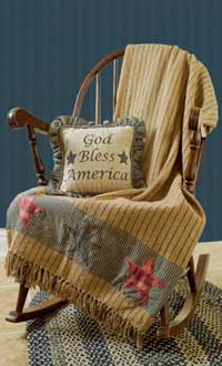Victorian Heart America Woven Throw