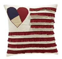 American Parade Pillow - Heart and Flag