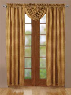 Amherst Panels - 84 inch (Gold Plaid)