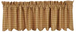 VHC Brands (Victorian Heart) Amherst Valance (Gold Plaid)